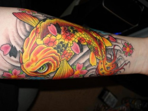 Colorful Koi Tattoo Ideas for New Year