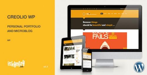 Creolio WP - Personal Portfolio Theme