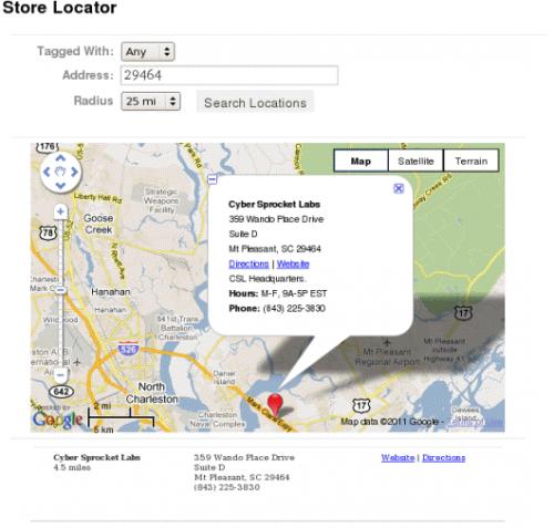 Google Maps via Store Locator Plus