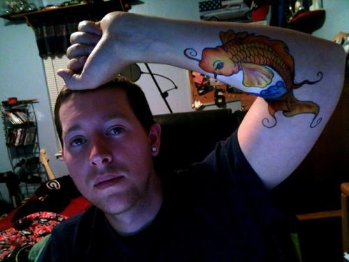 Koi Fish Tattoo Design for Men