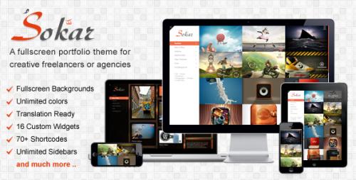 Sokar - Fullscreen Portfolio Theme