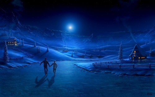 Amazing Winter Night Picture