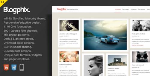 Blogphix - An Endless Scrolling WordPress Theme
