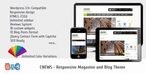 CNEWS - Responsive Magazine Theme