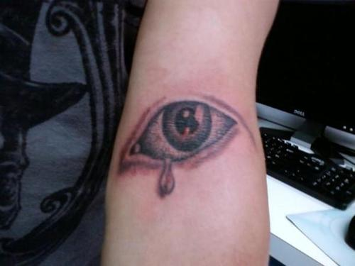 Forearm Teardrop Tattoo