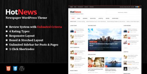 HotNews - Newspaper WordPress Theme