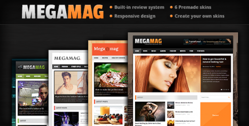 MEGAMAG - Responsive Magazine Style Theme