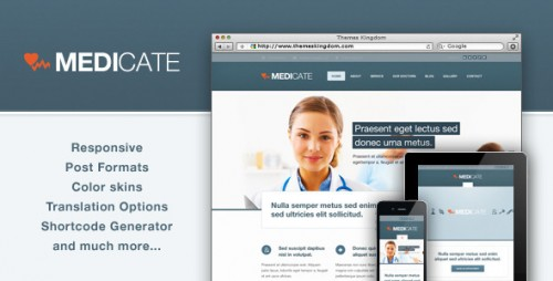 Medicate - Medical and Health Theme