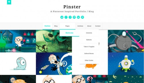 Pinster – Full Width Portfolio WP Theme