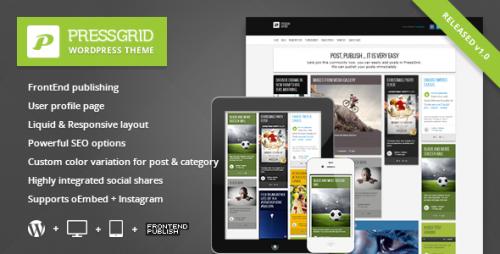 PressGrid - Frontend Publishing Theme