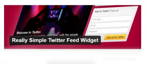 Simple Twitter Feed Widget