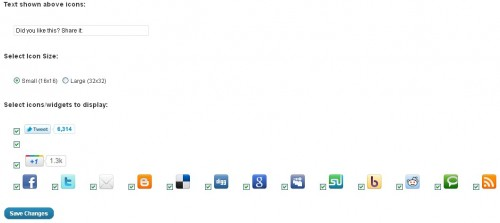 Special Social Sharing Icons
