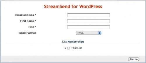 StreamSend WordPress Plugin