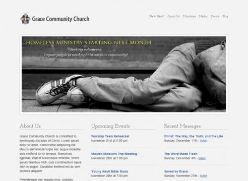 Stylish Church WordPress Theme