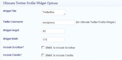 Ultimate Twitter Profile Widget