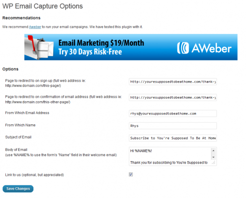 WP Email Capture
