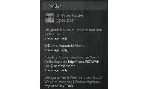 WP Twitter Timeline