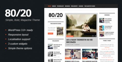 80/20 - WordPress Magazine Theme