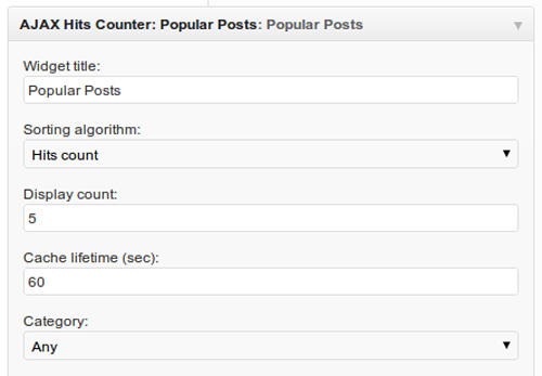 AJAX Hits Counter + Popular Posts Widget