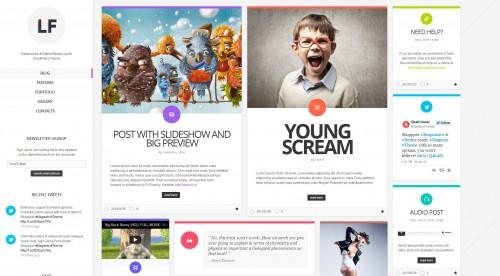 LiquidFolio - Portfolio WordPress Theme