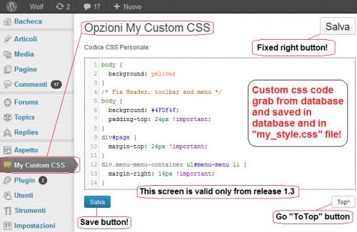 My Custom CSS