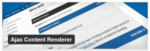 Ajax Content Renderer