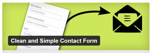 Clean and Simple Contact Form