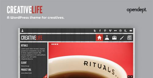 CreativeLife - WordPress Theme For Creatives