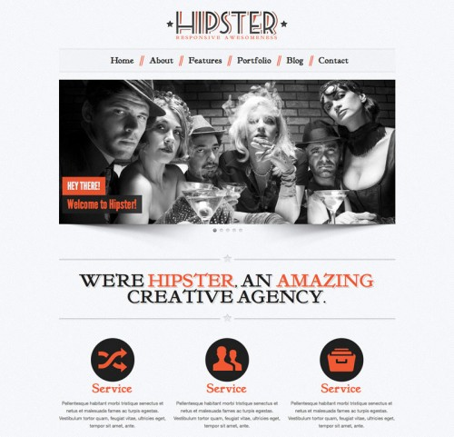 Hipster: Retro Responsive WordPress Theme