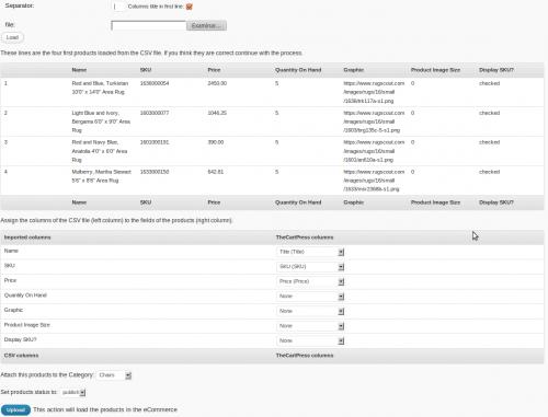 CSV loader for TheCartPress
