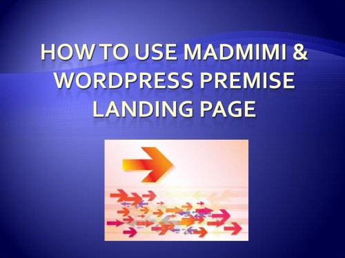 How to use Madmimi WordPress Landing Page