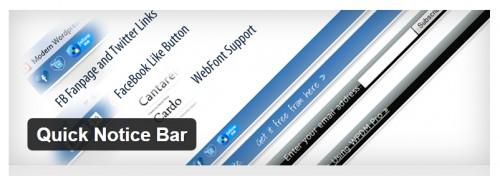 Quick Notice Bar