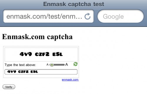 Enmask Captcha