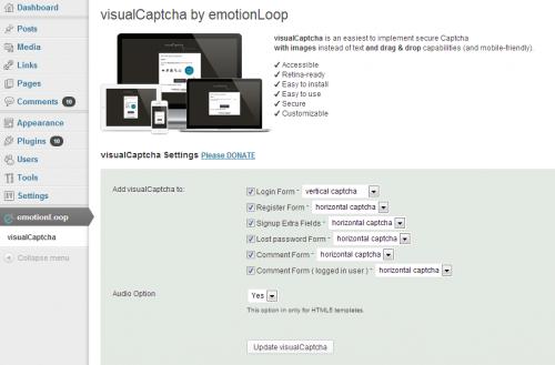 VisualCaptcha
