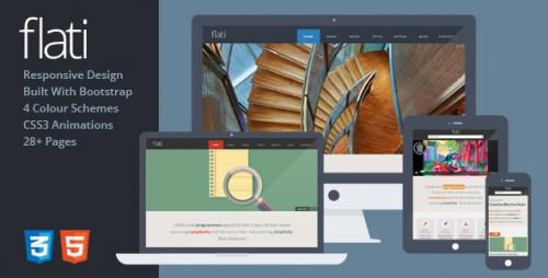 Flati - Responsive Flat Design Bootstrap Template
