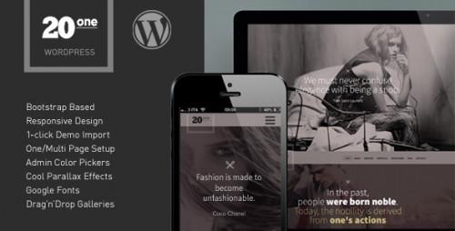 20one - Onepage WordPress Theme