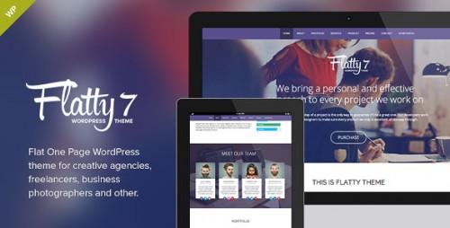 Flatty 7 - One Page Parallax WordPress Theme