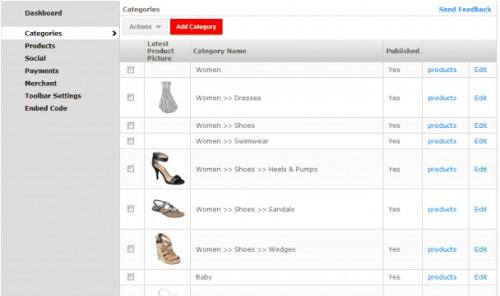 Frame Webstore Shopping Cart Toolbar