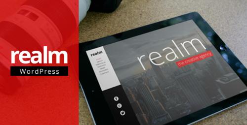REALM - One Page Parallax Retina WP Theme