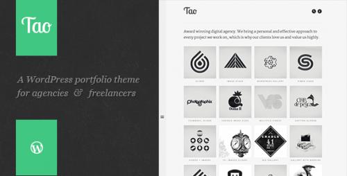 Tao: Retina WP Portfolio Theme
