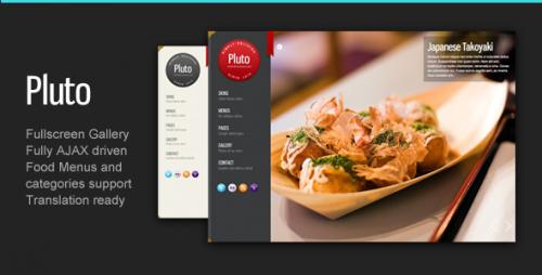 Pluto Fullscreen Cafe and Restaurant Theme