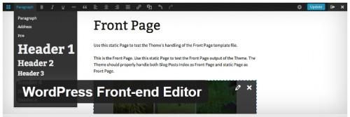WordPress Front-end Editor