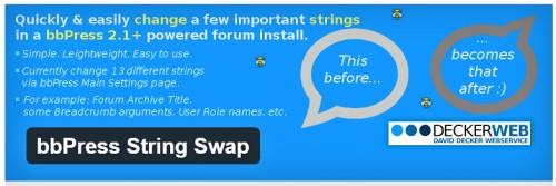 bbPress String Swap