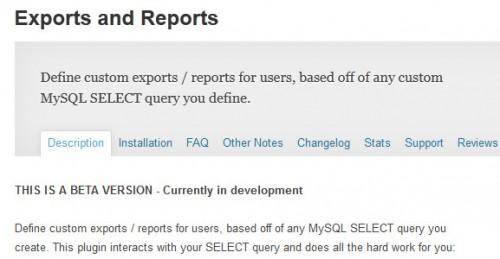 Exports and Reports