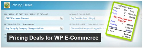 Pricing Deals for WP E-Commerce
