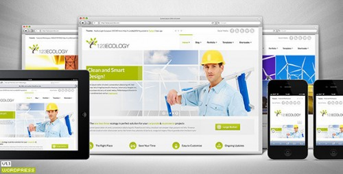 123Ecology Corporate & eCommerce WordPress Theme