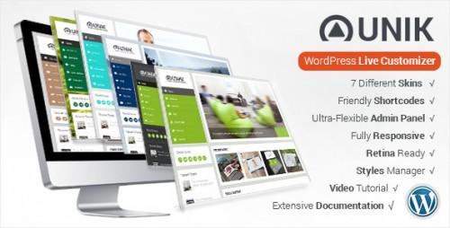 Unik - Ultra-Customizable WordPress Theme
