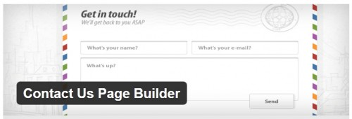 Contact Us Page Builder