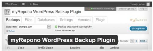 myRepono WordPress Backup Plugin