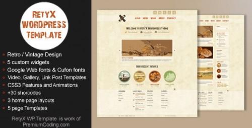 RetyX - Vintage, Retro Blog WordPress Theme